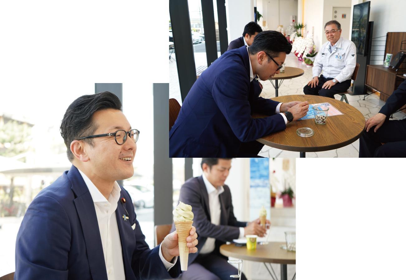 濱村農林水産大臣政務官が来訪されました!① その2