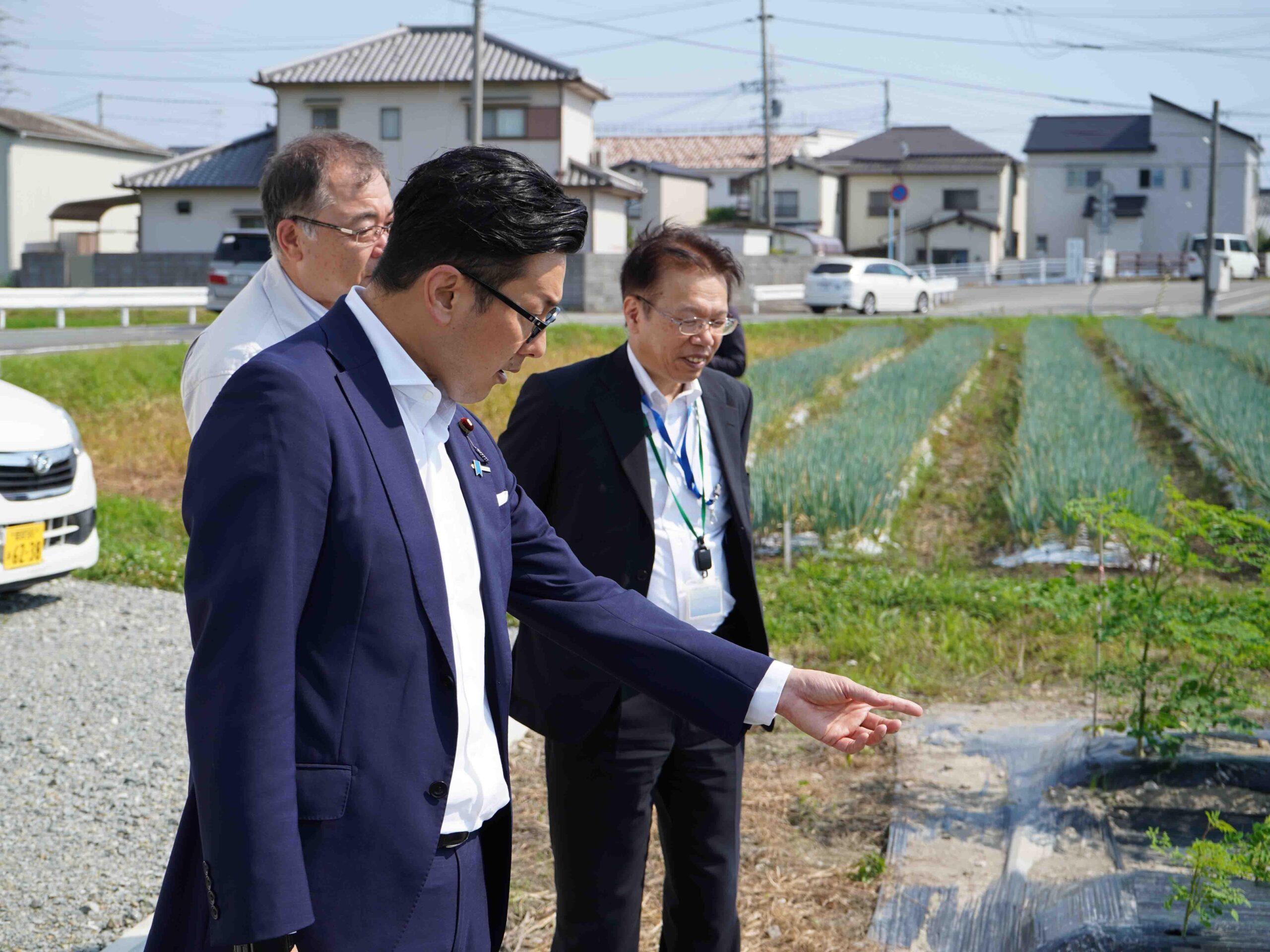 濱村農林水産大臣政務官が来訪されました!② その2