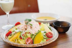 蒸し鶏と季節野菜のモリンガパワーサラダset